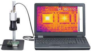 Infrarotkamera mit Mikroskopobjektiv