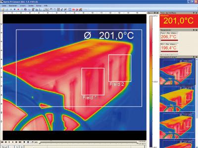 Infrarotkamera Erfassungs- und Analysesoftware
